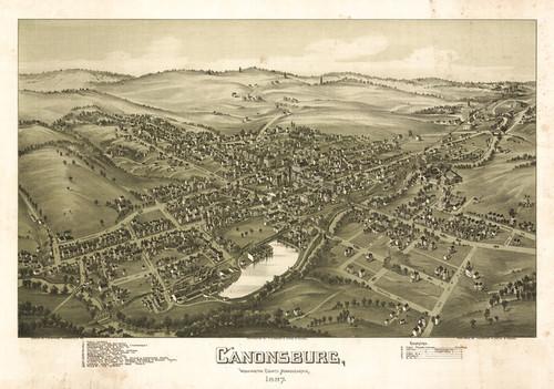 Art Prints of Canonsburg, Pennsylvania, 1897 by Thaddeus Mortimer Fowler