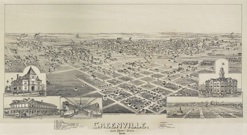 Art Prints of Greenville, Texas, 1891 by Thaddeus Mortimer Fowler