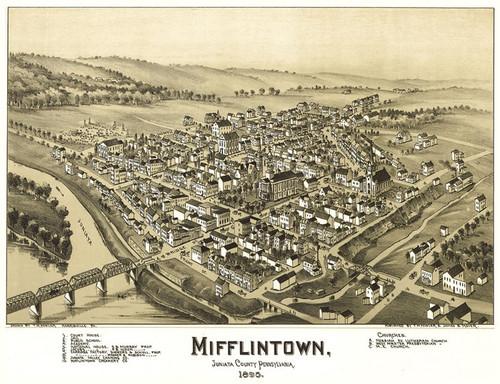 Art Prints of Mifflintown, Pennsylvania, 1895 by Thaddeus Mortimer Fowler