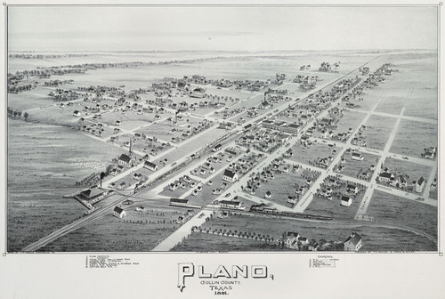 Art Prints of Plano, Texas, 1891 by Thaddeus Mortimer Fowler