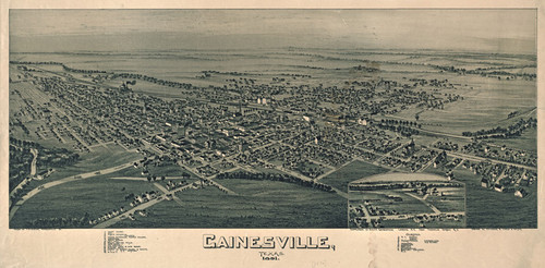 Art Prints of Gainesville, Texas, 1891 by Thaddeus Mortimer Fowler