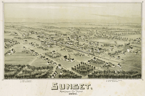 Art Prints of Sunset, Texas, 1890 by Thaddeus Mortimer Fowler