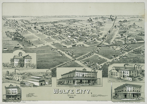 Art Prints of Wolfe City, Texas, 1891 by Thaddeus Mortimer Fowler