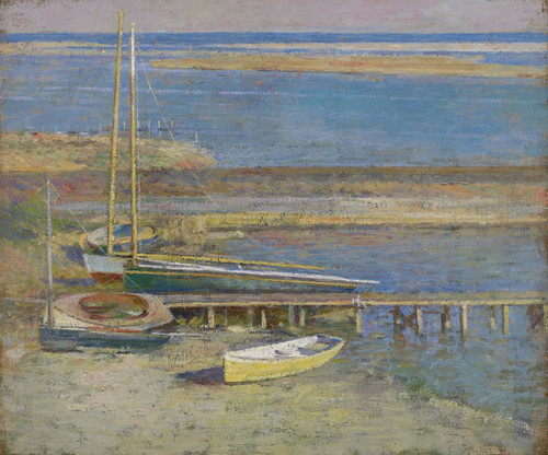 Art Prints of Boats at a Landing by Theodore Robinson