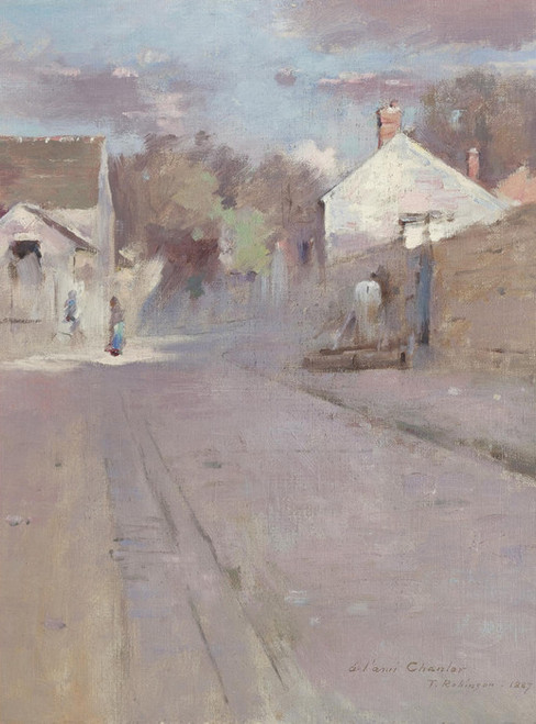 Art Prints of Street in Barbazon by Theodore Robinson