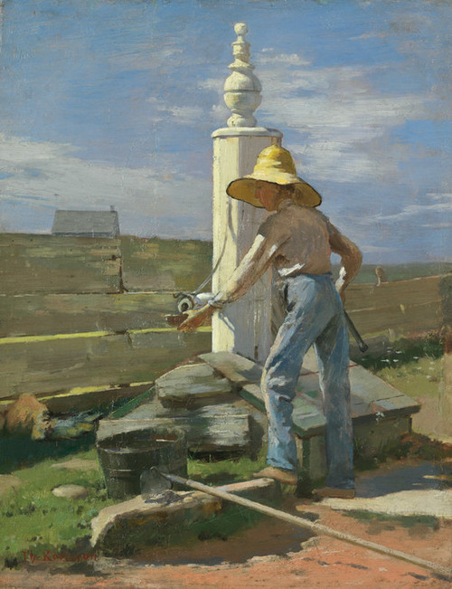 Art Prints of Nantucket Pump by Theodore Robinson
