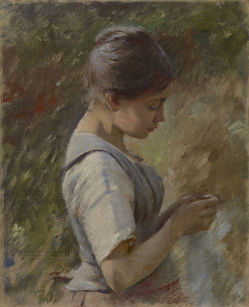 Art Prints of Variation on La Vachere or The Milkmaid by Theodore Robinson