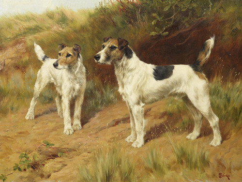 Art Prints of At Their Master's Call, Wire Haired Fox Terrier by Thomas Blinks