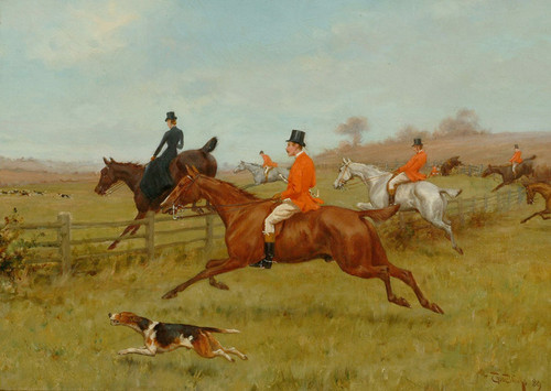 Art Prints of Taking a Fence by Thomas Blinks