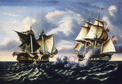 Art Prints of Capture of H.B.M. Frigate Macedonian by Thomas Chambers