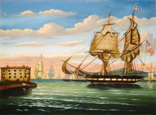 Art Prints of Bay of New York, Sunset by Thomas Chambers