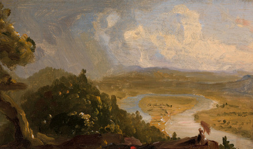 Art Prints of Sketch for View from Mount Holyoke by Thomas Cole