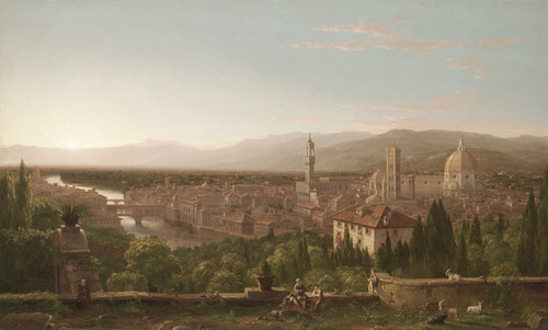 Art Prints of View of Forence by Thomas Cole
