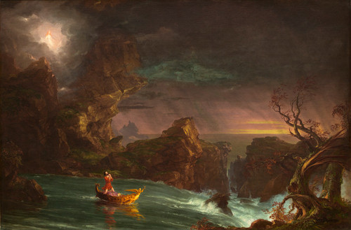 Art Prints of Voyage of Life, Manhood by Thomas Cole