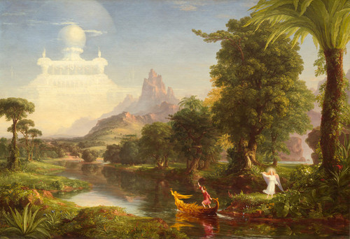 Art Prints of Voyage of Life, Youth by Thomas Cole