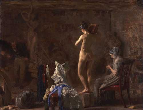 Art Prints of American William Rush Carving His Allegorical Figure 2 by Thomas Eakins