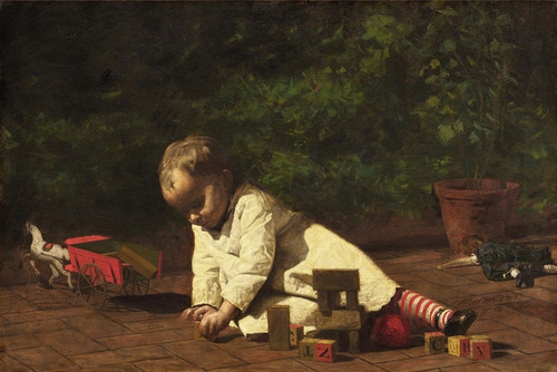 Art Prints of Baby at Play by Thomas Eakins