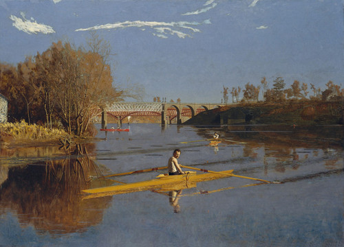 Art Prints of Max Schmitt in a Single Scull by Thomas Eakins