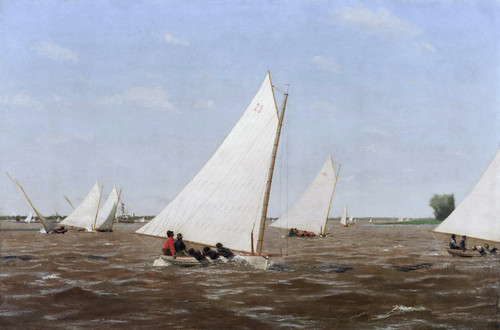 Art Prints of Sailboats Racing on the Delaware by Thomas Eakins