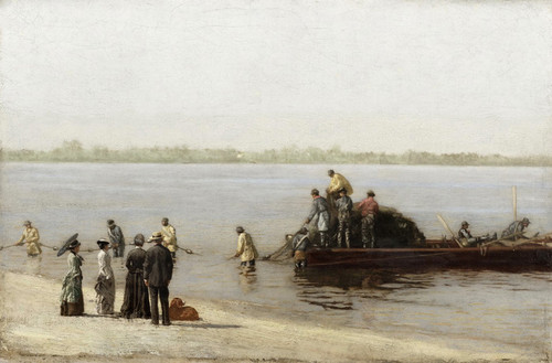 Art Prints of Shad Fishing at Gloucester on the Delaware River by Thomas Eakins