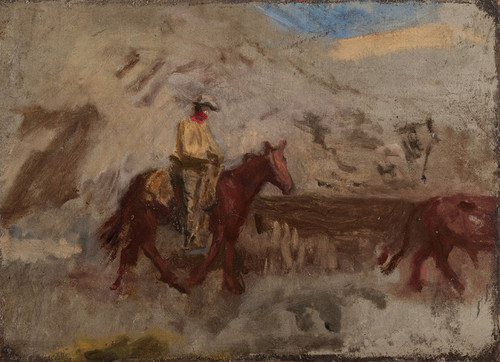Art Prints of Sketch of a Cowboy at Work by Thomas Eakins