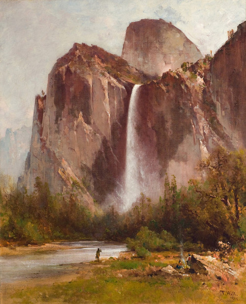 Art Prints of Bridal Veil Falls, 1888 by Thomas Hill