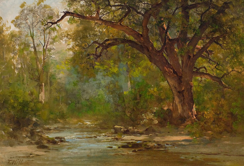Art Prints of Brook Scene by Thomas Hill