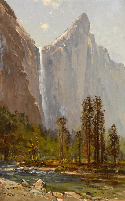 Art Prints of Bridal Veil Fall and Leaning Tower by Thomas Hill