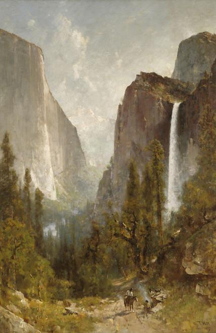Art Prints of Bridal Veil Falls, Yosemite Valley by Thomas Hill