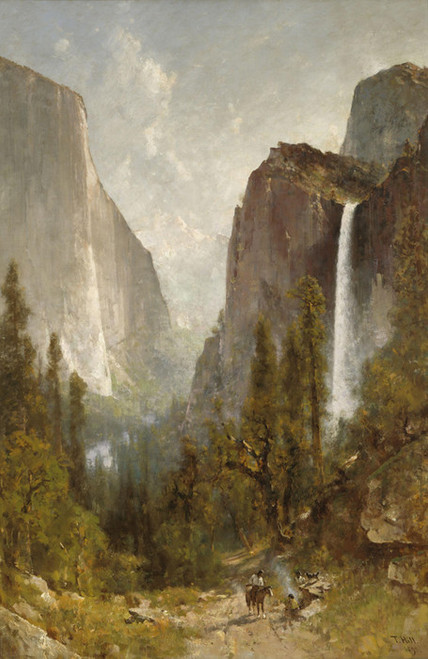 Art Prints of Bridal Veil Falls, Yosemite Valley by Thomas Hill