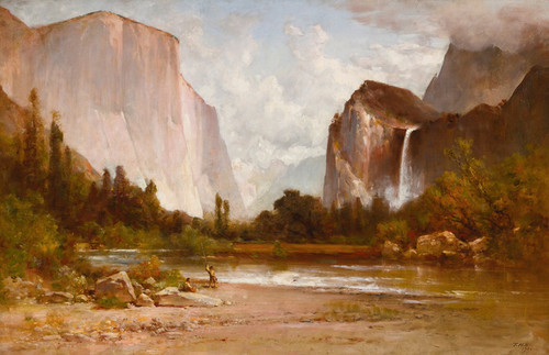 Art Prints of Fishing in Yosemite by Thomas Hill