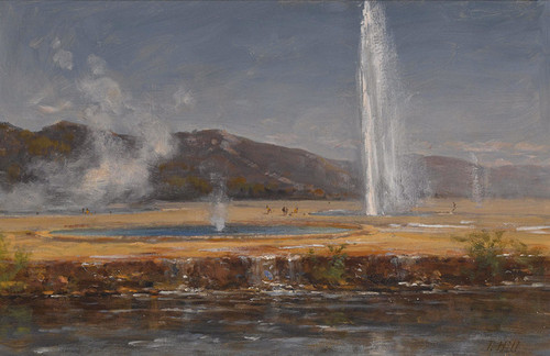 Art Prints of Old Faithful, Yellowstone by Thomas Hill
