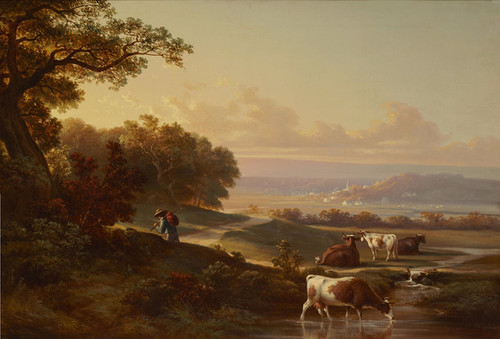 Art Prints of Sunset Pastoral by Thomas Hill