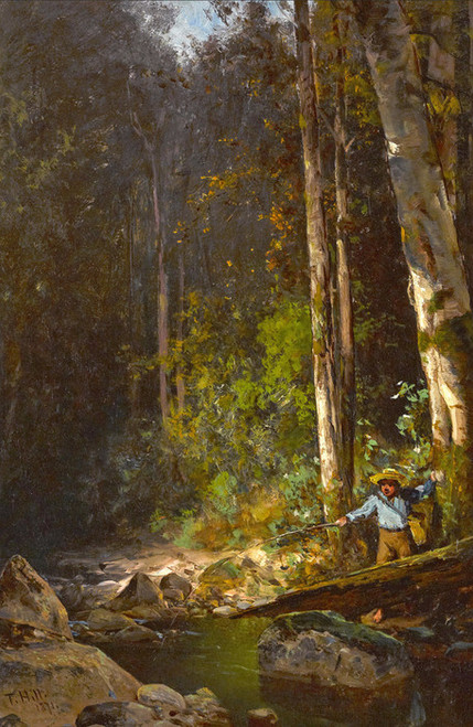 Art Prints of The Fishing Hole by Thomas Hill