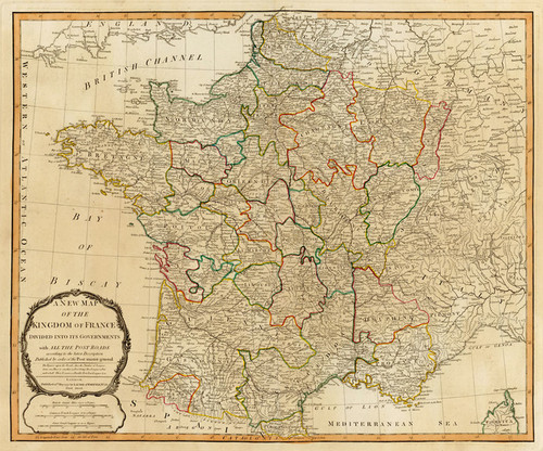 Art Prints of France, Governments (2310024) by Jefferys, Kitchin, Laurie and Whittle