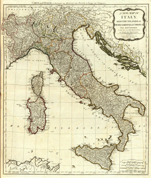 Art Prints of A New Map of Italy (0411021) by Thomas Kitchin