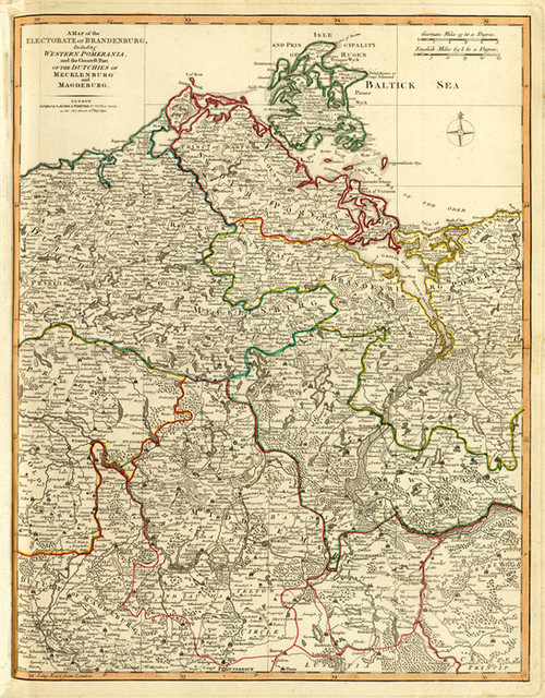 Art Prints of Bradenburg, West Pomerania (2310044) by Kitchin, Laurie and Whittle