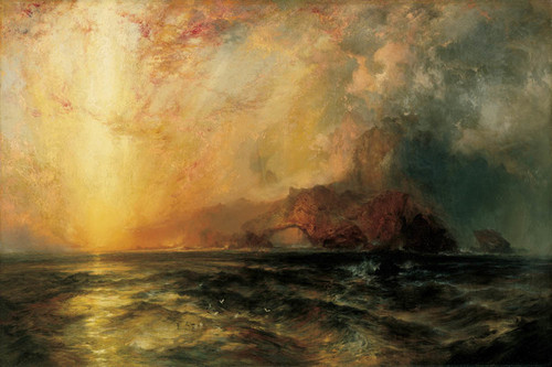 Art Prints of Fiercely the Red Sun Descending by Thomas Moran