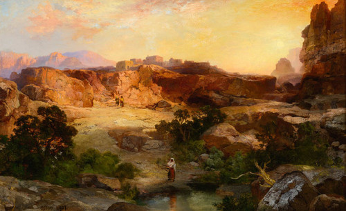 Art Prints of A Water Pocket, Northern Arizona 1907 by Thomas Moran