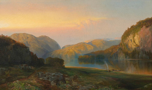 Art Prints of Evening on the Susquehanna by Thomas Moran