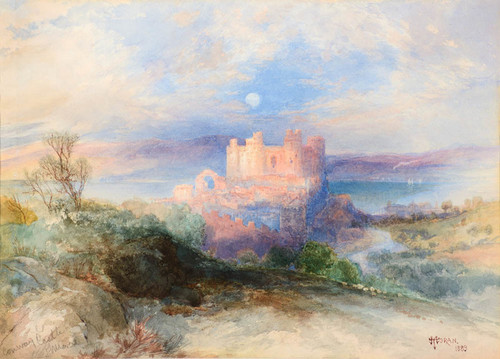 Art Prints of Conway Castle 1889 by Thomas Moran
