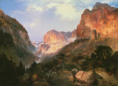 Art Prints of Golden Gate, Yellowstone National Park by Thomas Moran