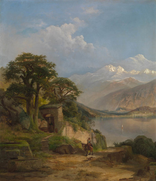 Art Prints of Lake Como by Thomas Moran