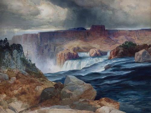 Art Prints of Shoshone Falls Idaho by Thomas Moran