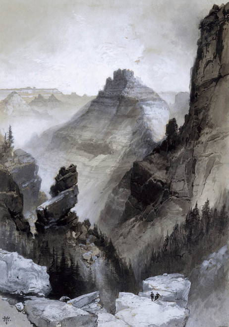 Art Prints of The Grand Canyon Head of the Old Hance Trail by Thomas Moran