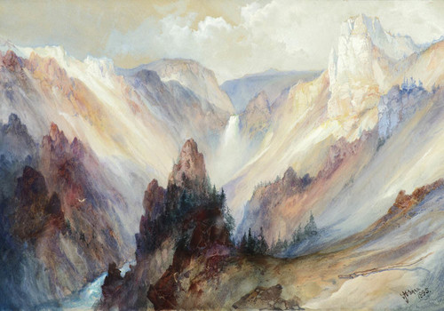 Art Prints of The Grand Canyon of Yellowstone 1895 by Thomas Moran