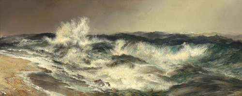 Art Prints of The Much Resounding Sea by Thomas Moran
