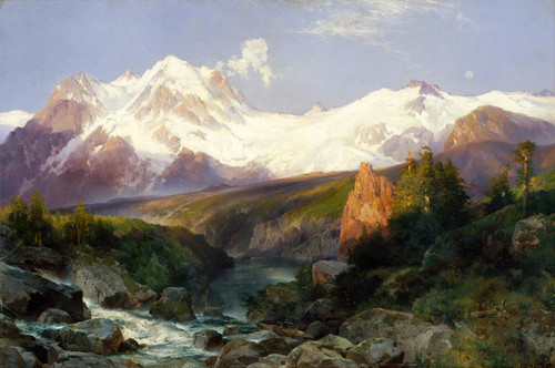 Art Prints of The Teton Range by Thomas Moran