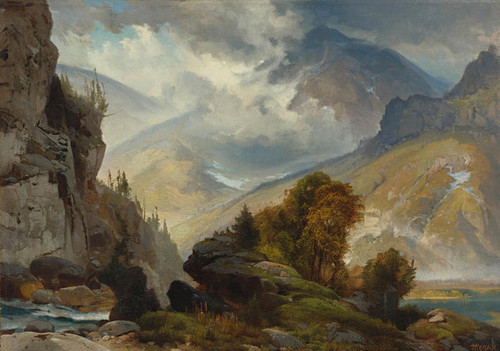 Art Prints of The White Mountains by Thomas Moran