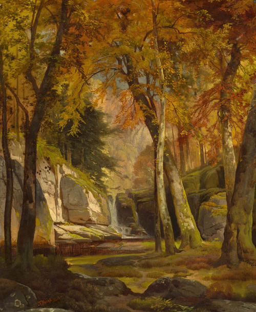 Art Prints of Waterfall Landscape Pennsylvania by Thomas Moran
